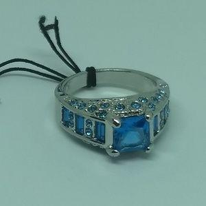Betsey Johnson Jewelry - BLUE GEMSTONE RING - Betsey Johnson - Cute Fashion